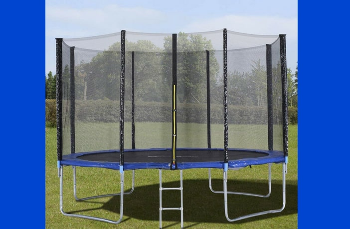 Giantex trampoline outdoors