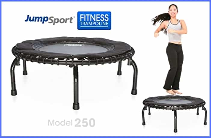 JumpSport 250 Fitness Trampoline - Best for Lymph Drainage
